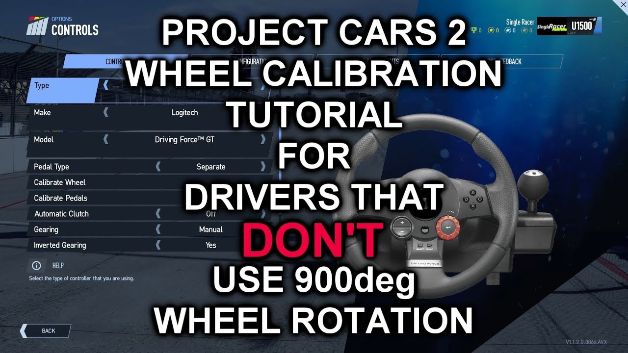 6eabc7005c7 Project Cars 2 - Wheel Rotation for NON 900 Degree Users Tutorial (deadzone  problem solved?)