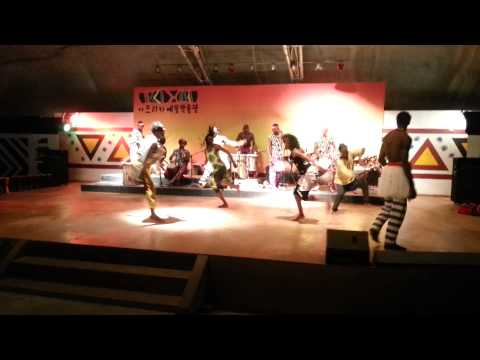 African dancing at African Cultural Center in Korea Part 4