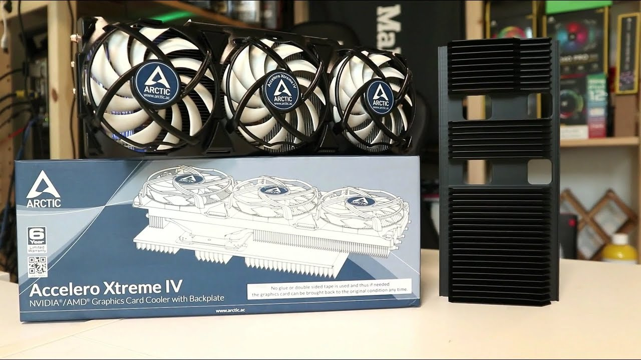Broken fan on your GeForce GTX 1080? Don't worry we have the Arctic Cooling  Accelero Xtreme IV