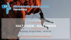 Halt geben - Halt finden - Onlinegottesdienst vom 19.04.2020