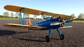 maiden flight review only e flite umx pt 17 stearman bnf warbird biplane with as3x technology