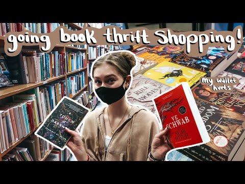going book thrift shopping + haul!
