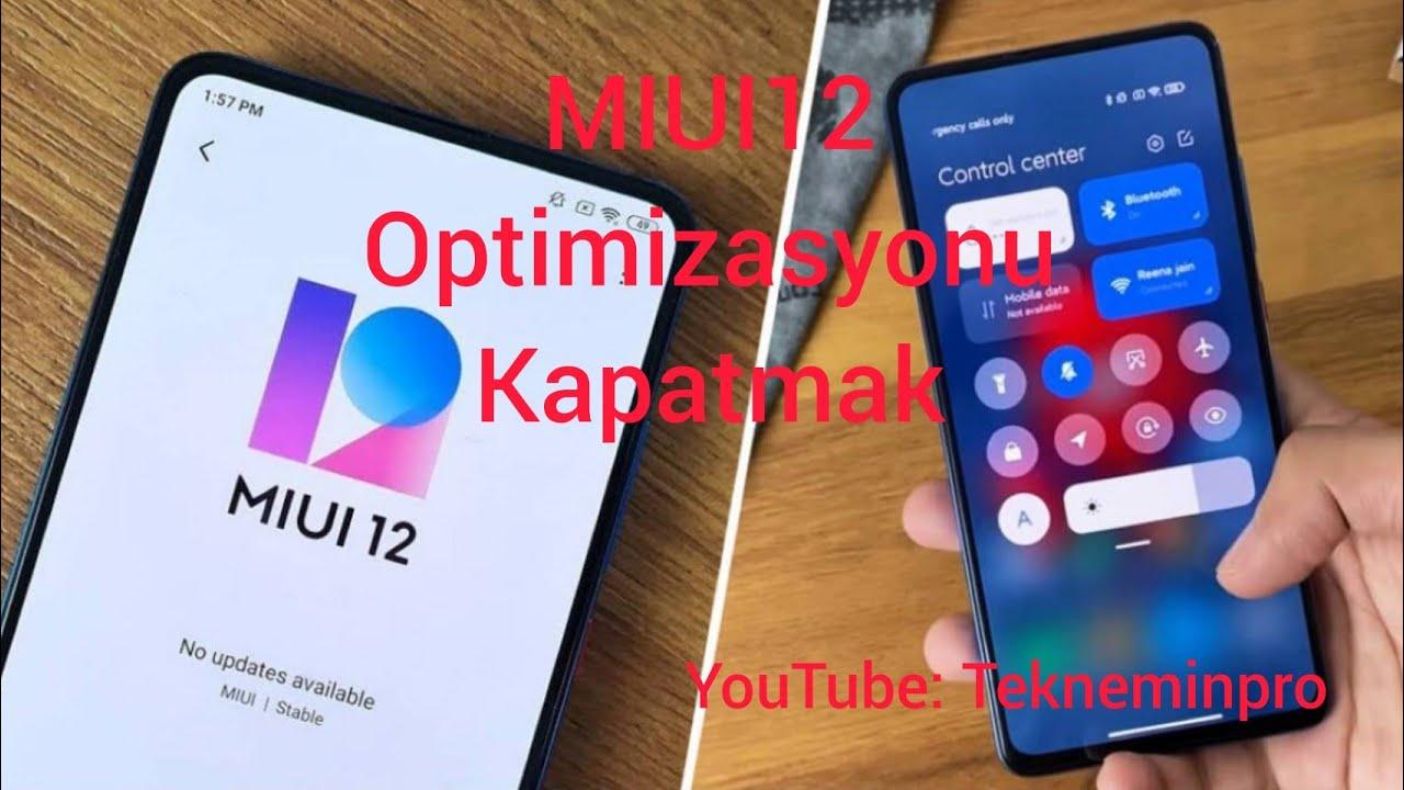 MIUI optimizasyonu kapatma ve açma - YouTube