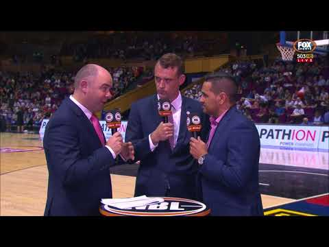 SCOTT BUTLER TRIES TO EXPLAIN THE UNSPORTSMANLIKE FOUL - NBL STYLE