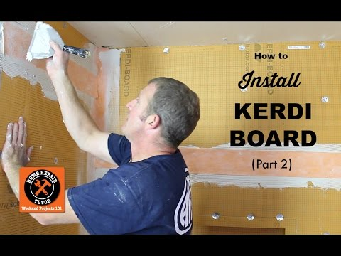 How to Install Schluter KERDI-BOARD in a Bathroom (Part 2) -- by Home Repair Tutor