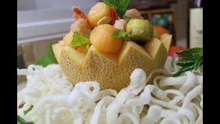 Летний салат l Дыня и авокадо
