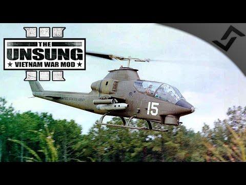 Chopper Gunner in a AH-1G Cobra - ARMA 3 Unsung Vietnam Mod Gameplay
