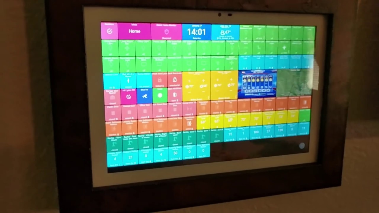 Wall Mounted Tablet SmartThings ActionTiles Fully Kiosk Hardware  Installation Guide