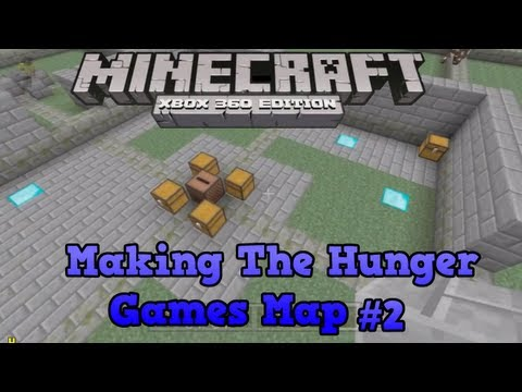 Minecraft Xbox 360 Creative #2 - Making The Hunger Games - The Library