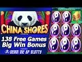 China Shores Slot - 138 Free Games, Big Win Bonus