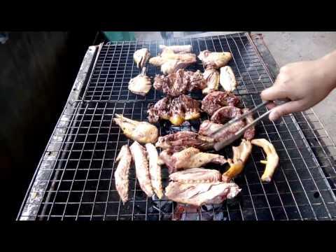 Eat duck, roast duck, party food in Laos