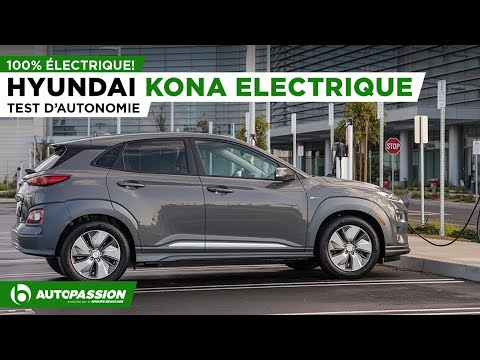 2019 Hyundai Kona EV 100% Électrique - Essai Routier - Autonomie Impressionnante