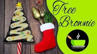 Christmas Tree Brownies | DIY Holiday Treats | Christmas Recipes | Holiday Brownies