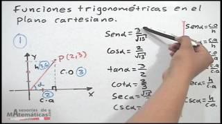 **Funciones trigonométricas en el plano cartesiano