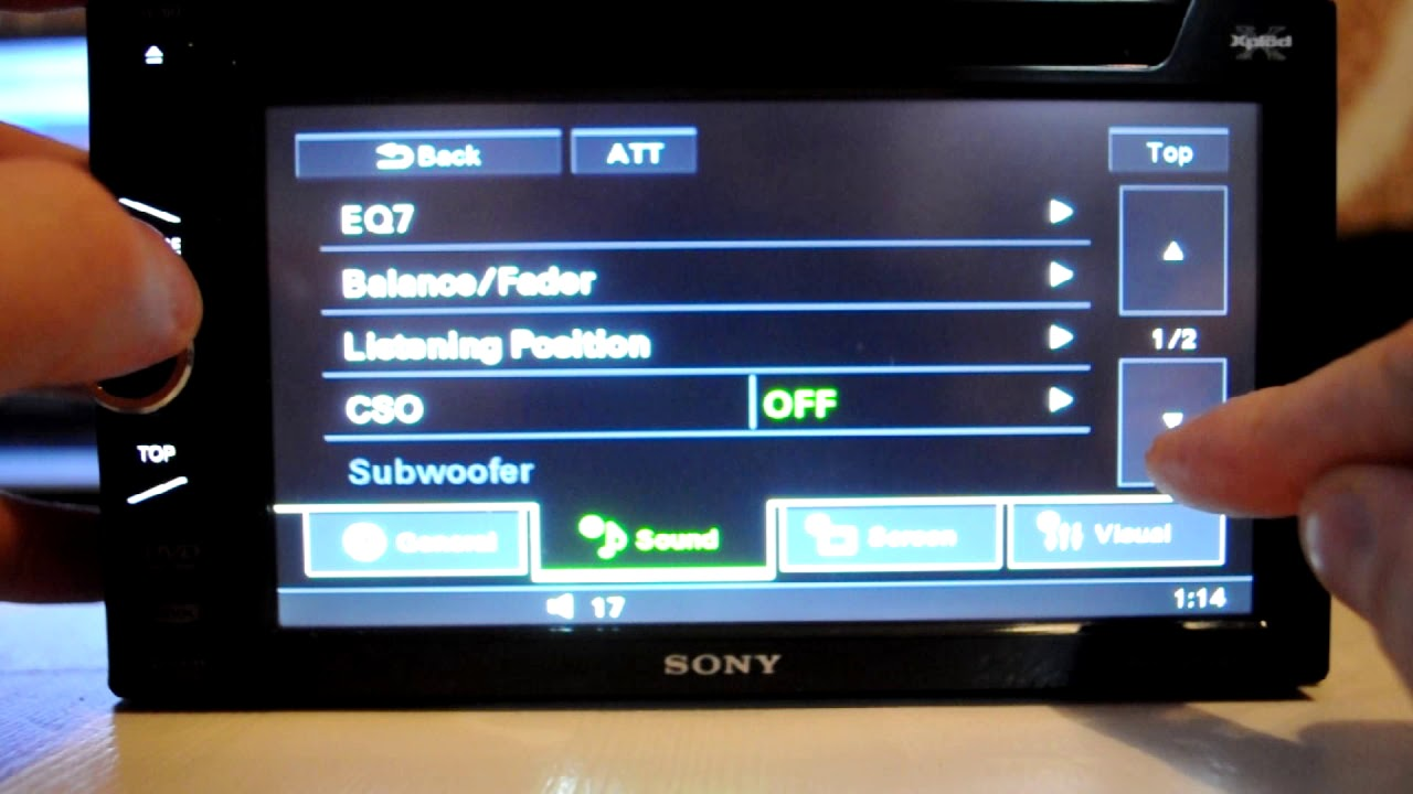 small resolution of sony xav 60 dvd cd mp3 receiver with usb ipod controls