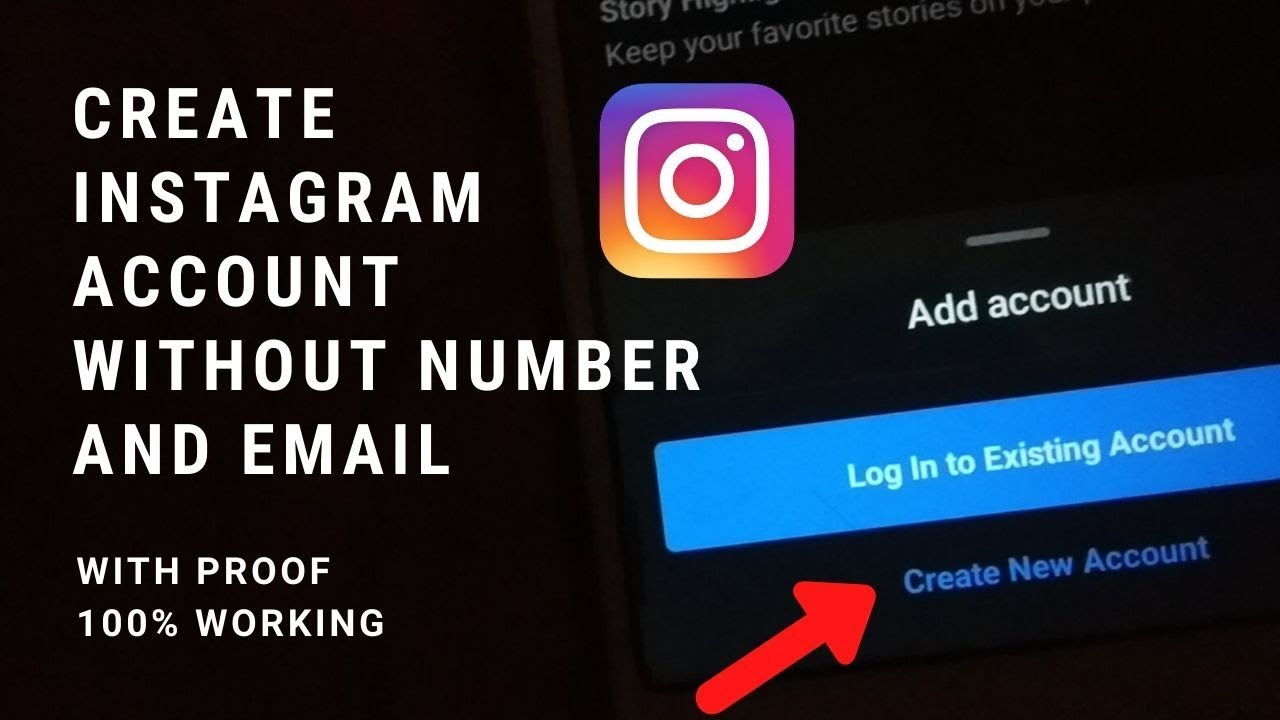 How to create instagram account without phone number and email ...