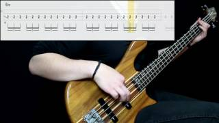 Muse - Knights Of Cydonia (Bass Cover) (Play Along Tabs In Video)