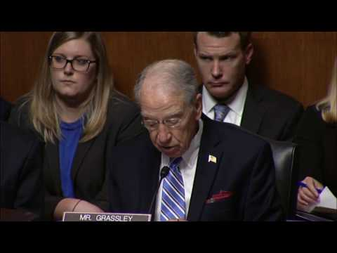 Grassley Statement at Hearing for FBI Director Nominee Christopher Wray