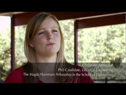 Stanford Engineering Graduate Fellow Christine Amwake
