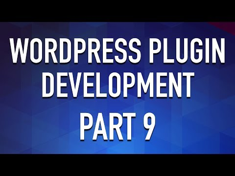 WordPress Plugin Development - Part 9 - Settings Link and Admin Pages