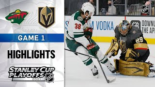 First Round, Gm 1: Wild @ Golden Knights 5/16/21 | NHL Highlights