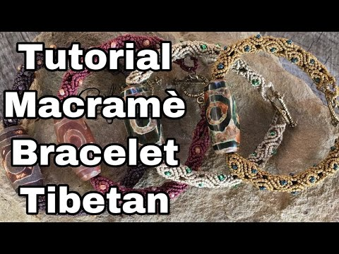 Tutorial Macramè Bracelet Tibetan - Cobeads.com