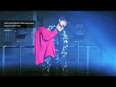 181013 Love Yourself Tour In Amsterdam - Singularity / BTS V Focus 4K Fancam / 방탄소년단 뷔 직캠