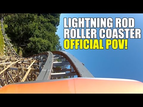AWESOME! Lightning Rod Roller Coaster Official POV Dollywood Theme Park