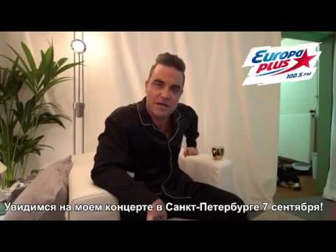 Robie Williams - Europa Plus Radio Short Interview - Russia 2017
