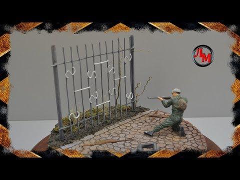 Как сделать забор для макета своими руками