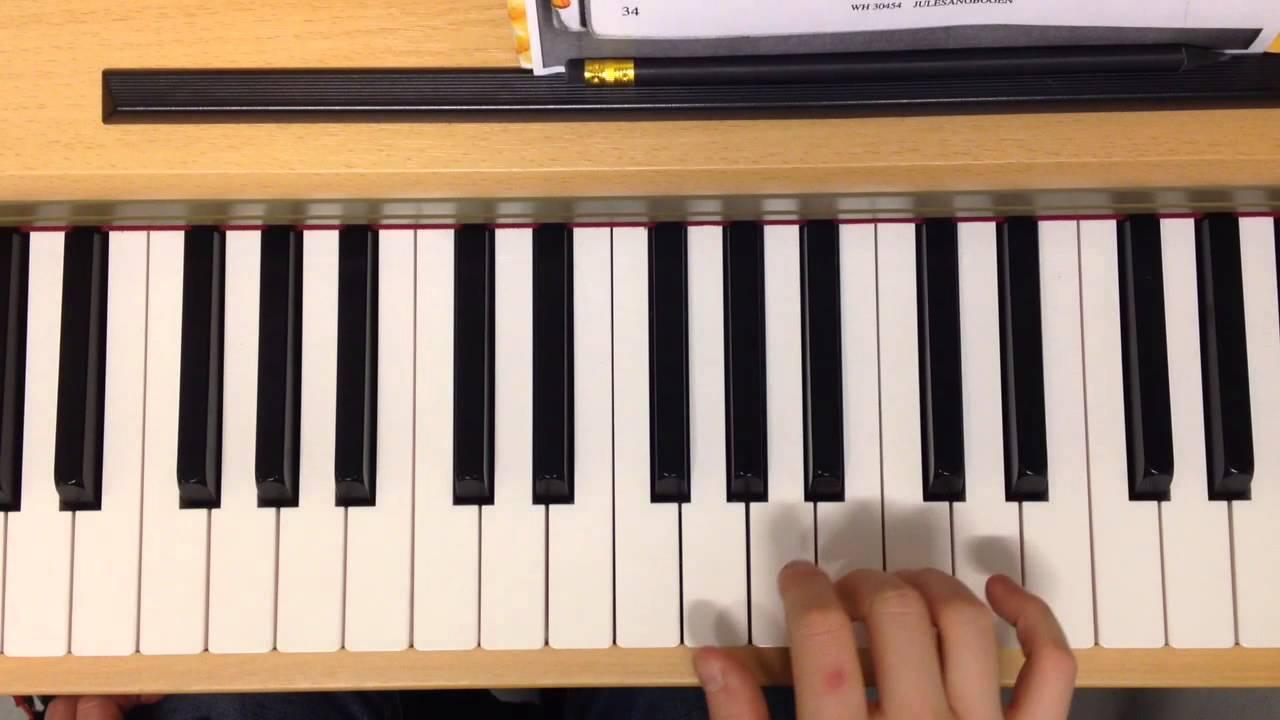 Et Barn Er Født I Betlehem (G), Piano
