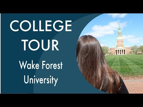 Wake Forest University Tour & mall shopping