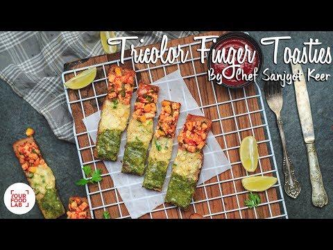 Tricolor Finger Toasties Recipe   ट्रायकलर फिंगर टोस्टी   Chef Sanjyot Keer