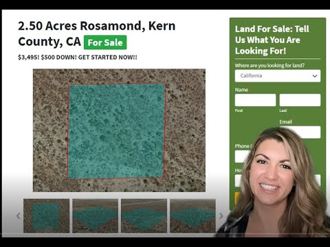 2.50 Acres Rosamond Property in Kern County, CA