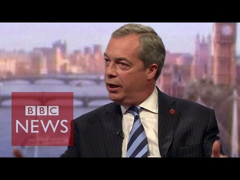 Nigel Farage: UK should be free to make its own trade deals - BBC News