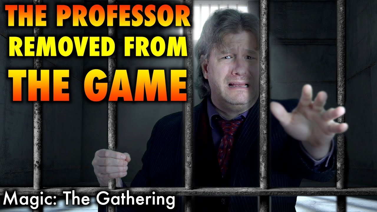 The Professor Removed From Magic: The Gathering (Double Masters Exclusive Leak-Proof Preview Card)