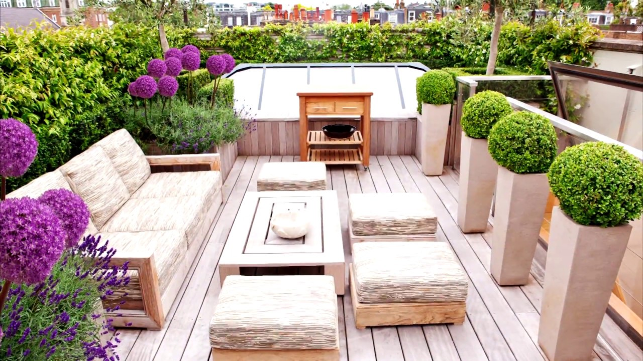 48 roof garden design ideas youtube for Rooftop landscape design