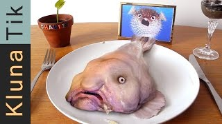 BLOBFISH FOR DINNER!!! Kluna Tik Dinner #57   ASMR eating sounds no talk