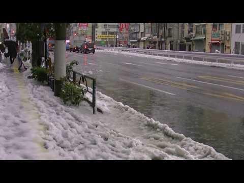 Heavy snow @ Tokyo,Japan on January 18th 2016.