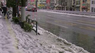 Heavy snow @ Tokyo,Japan on January 18th 2016.