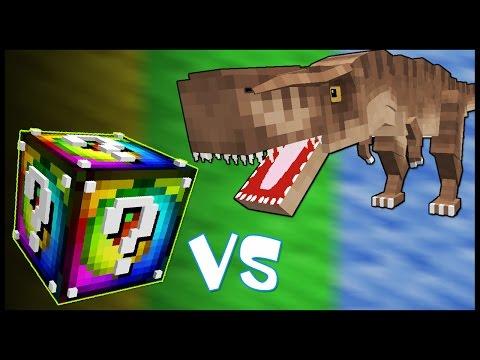 видео: Спиральный Лаки Блок VS Тиранозавр! - Лаки Битва #26