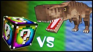 Спиральный Лаки Блок VS Тиранозавр! - Лаки Битва #26