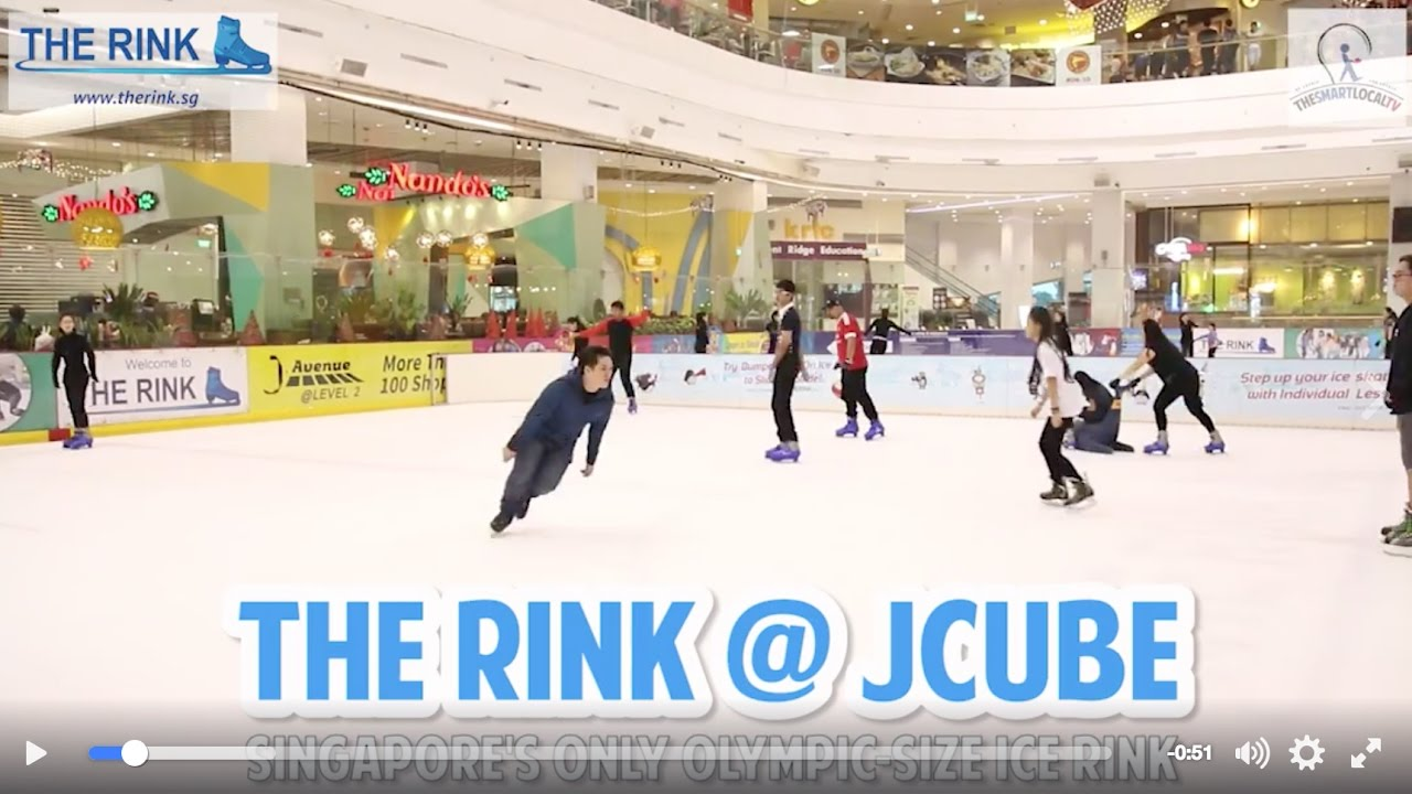 801858b1ad The Rink at JCube  Singapore s only Olympic-size ice rink - YouTube