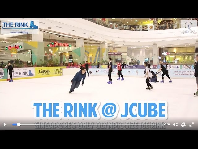 The Rink at JCube: Singapore's only Olympic-size ice rink