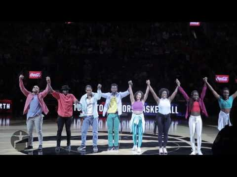 """Black Music through the Ages"" Raptors Halftime Black History Month Celebration"