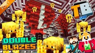 DOUBLE BLAZE SPAWNER FARM | Truly Bedrock Season 1 [91] | Minecraft Bedrock Edition 1.14 SMP