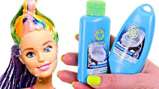 How to Dye Barbie's Hair | DIY Barbie Doll Hair Coloring | SUPER EASY(Today we change our Barbie dolls hair color! Simple DIY Barbie or any other doll hair coloring tutorial. Check out more of our Play Doh Videos by Disney Cars ..., 2016-09-05T15:47:17.000Z)