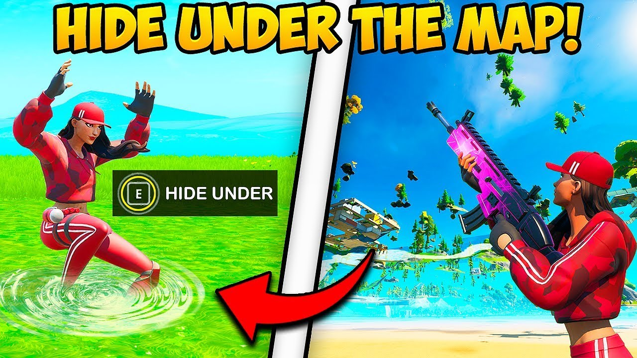 *NEW TRICK* GET UNDER THE MAP!! - Fortnite Funny Fails and WTF Moments! #816