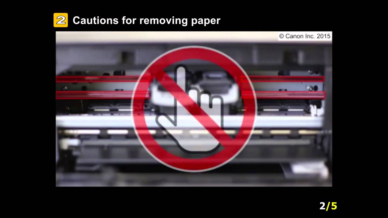 Canon Knowledge Base - Paper is Jammed Inside the Machine