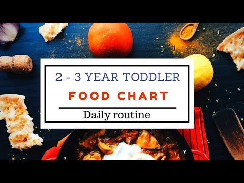 Food chart & Daily routine ( for 2 3 year toddler ) Indian toddler food chart & daily routine
